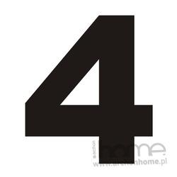 Numer na dom 4 czarny