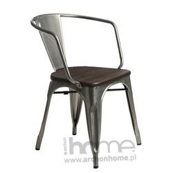 Krzesło Paris Arms Wood metaliczny sosna szczotkowana