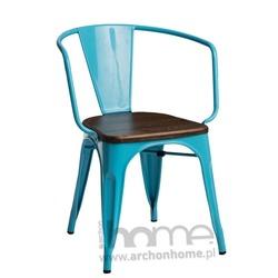 Krzesło Paris Arms Wood niebieski sosna