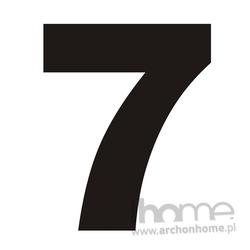 Numer na dom 7 czarny