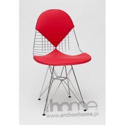 Krzesło Net double czerwone - inspirowane Wire Chair