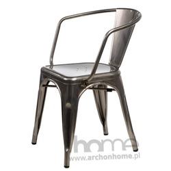 Krzesło Paris Arms metaliczne - inspirowany Tolix