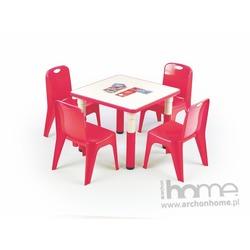 Stolik SIMBA kwadrat czerwony
