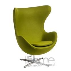 Fotel Jajo zielony jasny kaszmir Premium