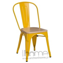 Krzesło Paris Wood pomarańczowy sosna