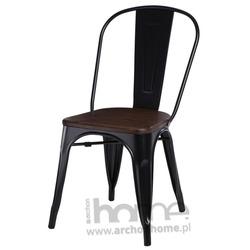 Krzesło Paris Wood czarny sosna
