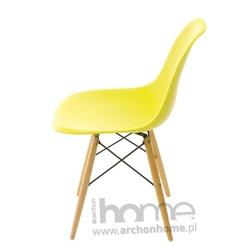 Krzesło Socrates oliwkowe, drewniane nogi
