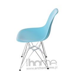 Krzesło Socrates błękitne chrom