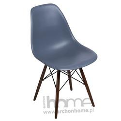 Krzesło Socrates dark grey drewniane nogi dark