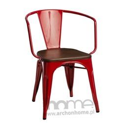 Krzesło Paris Arms Wood czerwony sosna