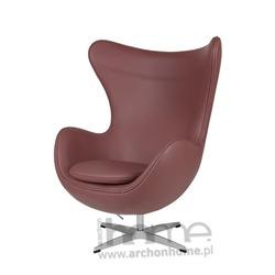Fotel Jajo jasno brązowy skóra premium