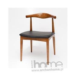 Krzesło Codo brązowe drewno - inspirowane Elbow Chair