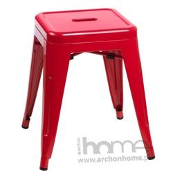 Stołek Paris czerwony - inspirowany Tolix