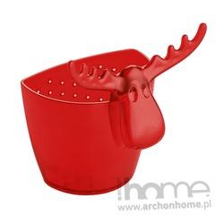 Zaparzaczka do herbaty czerwona Rudolf