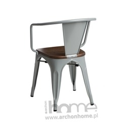 Krzesło Paris Arms Wood srebrny sosna