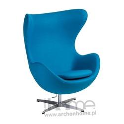 Fotel Jajo niebieski jasny kaszmir Premium