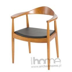 Krzesło President brązowe drewno  - inspirowane Kennedy