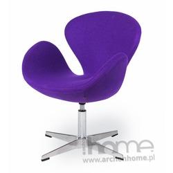 Fotel SWAN fioletowy
