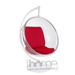Fotel Bańka z podstawą czerwony - inspirowany Bubble Chair