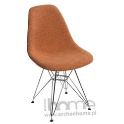 Krzesło SOCRATES DUO pomarańczowo szare chrom