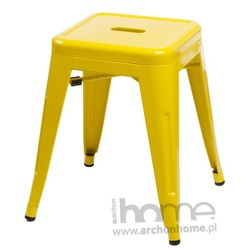 Stołek Paris żółty - inspirowany Tolix