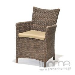 Fotel ogrodowy z poduszką KOLANTA brązowy