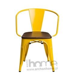 Krzesło Paris Arms Wood żółty sosna