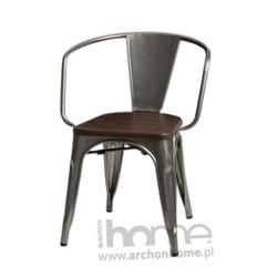Krzesło Paris Arms Wood metaliczny sosna