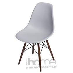 Krzesło Socrates light grey drewniane nogi dark