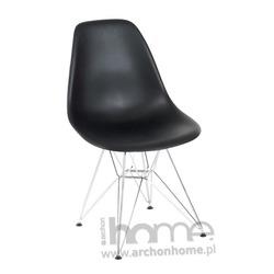 Krzesło Socrates czarne chrom