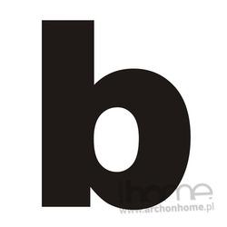 Litera na dom _b_ czarna