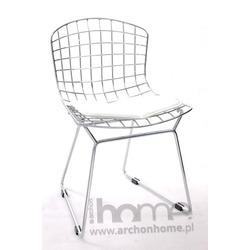 Krzesło dziecięce Harry Junior białe - inspirowane Diamond Junior