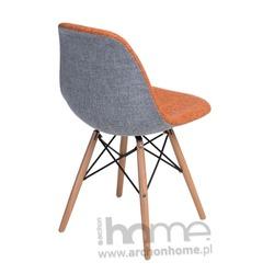 Krzesło SOCRATES DUO pomarańczowo szare