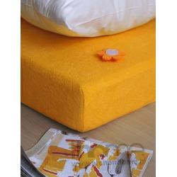 Prześcieradło Frotte żółty 140