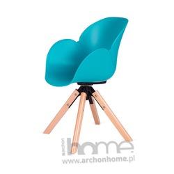 Fotel obrotowy FLOWER turkusowy