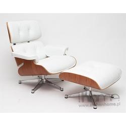 Podnóżek Vip biały, rosewood - inspirowany Lounge Chair