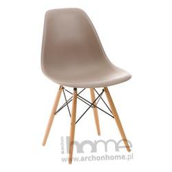 Krzesło Socrates szare drewniane nogi