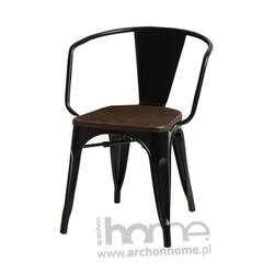 Krzesło Paris Arms Wood czarny sosna