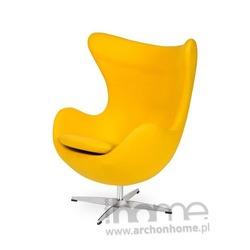 Fotel EGG classic żółty