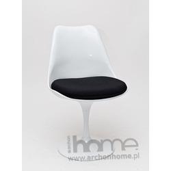Krzesło Tul biało-czarne - inspirowane Tulip Chair
