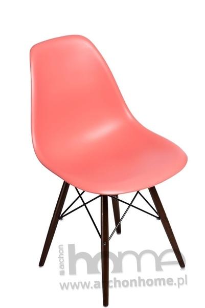 Krzesło Socrates dark peach drewniane nogi dark