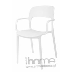 Krzesło FLEXI z podłokietnikami białe