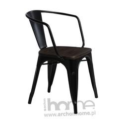 Krzesło Paris Arms Wood czarny jesion