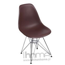 Krzesło Socrates brązowe chrom