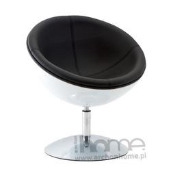 Fotel obrotowy Mercury biało-czarny
