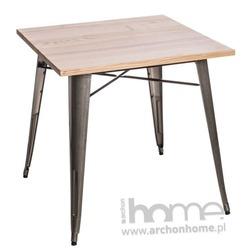 Stół Paris Wood metaliczny jesion