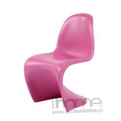 Krzesło dziecięce Balance Junior różowe - inspirowane Panton Jr