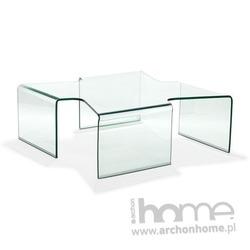 Stolik szklany Axenta transparentny