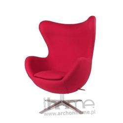 Fotel Jajo szeroki czerwony tkanina