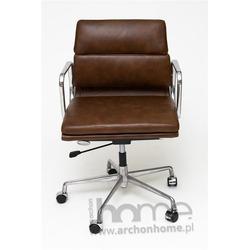 Fotel biurowy 3 brązowa skóra - inspirowany EA217 skóra